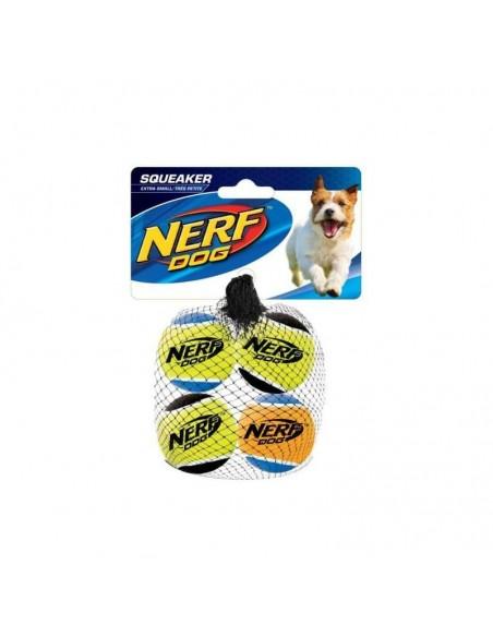 Juguete Nerf Squeak T. Balls 4ud XS negro/asst.